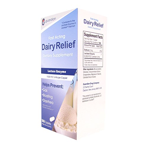 Guardian Dairy Relief Fast Acting Caplets, Lactase Enzyme, Pack of 2, 360 CT by Guardian (Image #6)