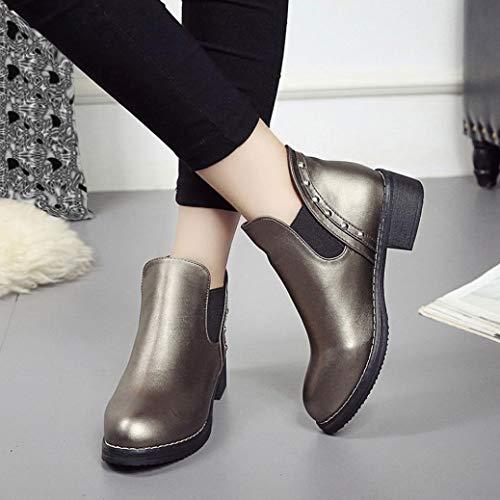Martin Mode Boho Bottes Or À Chic Chaussures Sanfahion Vintage Bottines Femme Casual Lacets qwWaFA