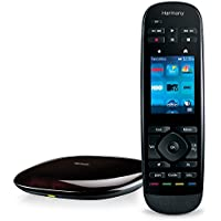 Logitech Harmony Remote with Customizable Touch Screen and Closed Cabinet RF Control - Black (Certified Refurbished)