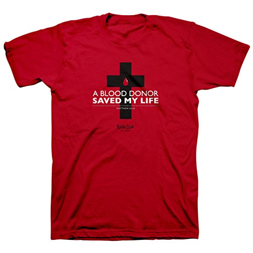 A Blood Donor Saved My Life Christian T-Shirt Red