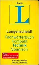 Diccionario técnico alemán/español libro: Amazon.es: Radde
