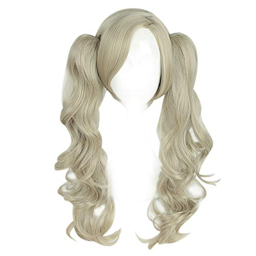 Anne Takamaki Panther Cosplay Wig Xcoser Persona 5 Long Curly Beige Golden Hair for Women