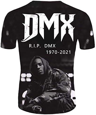 DMX SHIRT,MEN'S 3D PRINTED ROUND NECK T-SHIRT, CASUAL SHORT SLEEVE