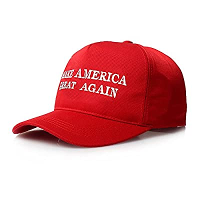 Fmeida Baseball Cap Cotton Adjustable Unisex Snapback Hip Hop Hat(Red)