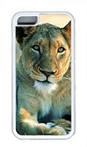 Tiger Custom Rubber(TPU) white Case for Masterpiece Limited Design iphone 5c iphone 5c by Cases & Mousepads