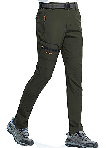 - DAFENGEA Men's Outdoor Lightweight Breathable Quick Dry Hiking Mountain Pants,CFK1602M-Armygreen-XL