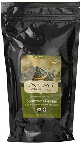 Numi Organic Tea vert Gunpowder - Feuille complet, Loose Leaf, le Temple du Ciel de thé vert, de 16 onces sac