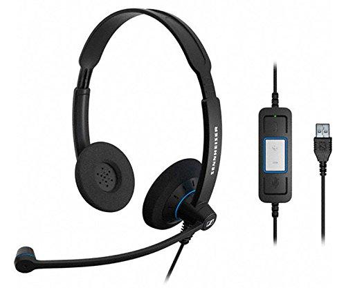 (Sennheiser SC60 USB CTRL Culture Series Wideband Headset Model 504549)