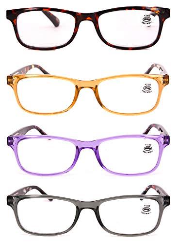 Marron de lunettes en plein Lunettes 0 lecture 3 Pack 2 lecture de 5 0 5 cadre 0 5 2 résine 1 4 et Hommes 1 lentille rectangulaire femmes 3 MUCHAO tnCZqZ