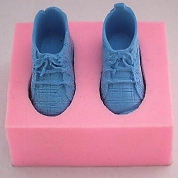 Meiyo un par de zapatillas, fondant para tartas, chocolate, silicona, herramientas de decoración para tartas, 7,5 cm x 6 cm x 3,2 cm: Amazon.es: Hogar