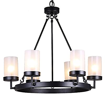 Jojospring Eliana 6-light Linear Glass Chandelier
