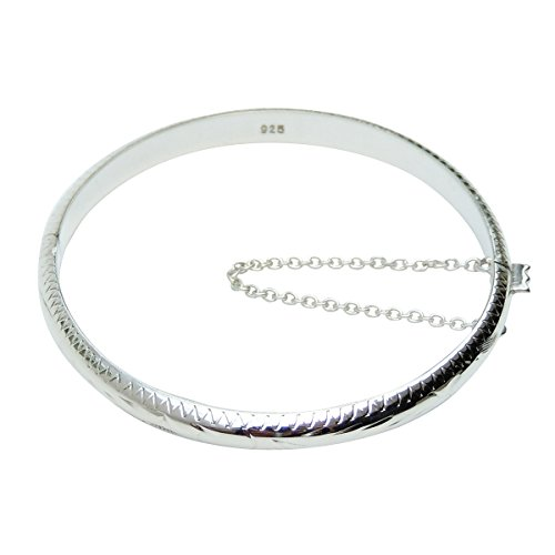 Beloved Child Goods Sterling Silver Bangle Bracelet for Babies is a Great Baby Shower, Baptism or Christmas Gift & ()