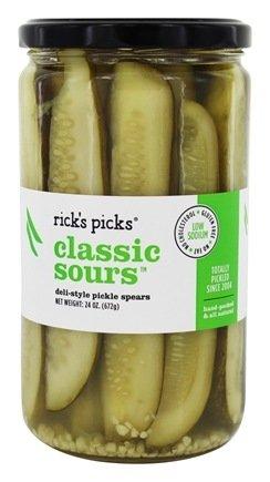 Ricks Picks Classic Sours Pickles, 24 Ounce - 6 per case.