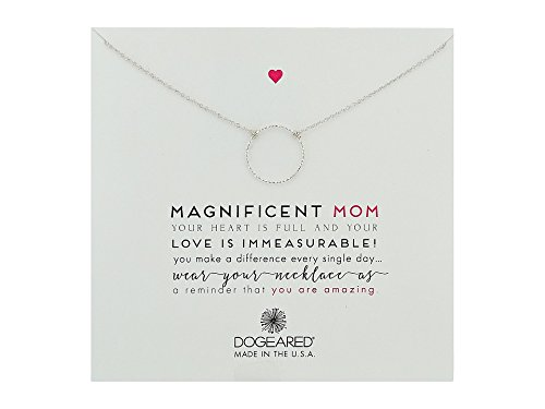- Dogeared Magnificent Mom Little Sparkle Karma Necklace Sterling Silver Chain Necklace, 18