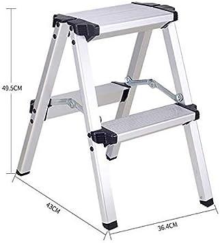 GBX Fácil Y Multifuncional Plegable Conveniente Taburete, Hogar Taburete de Paso de Escalera de Metal de Heces Escaleras Metálicas Escaleras,Escalera de 4 Pasos: Amazon.es: Bricolaje y herramientas
