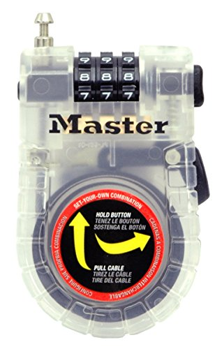 Master Lock Cable Lock, Set Your Own Combination Bike Lock, 3 ft. Long, Assorted Colors, 4605D by Master Lock (Image #5)