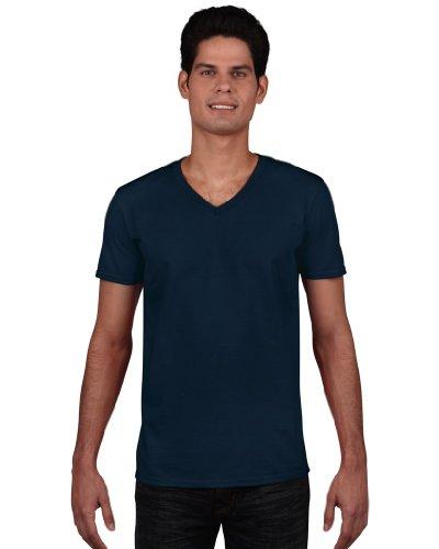 Style Navy T Soft Shirt Homme neck Gildan V vFU0wF5q