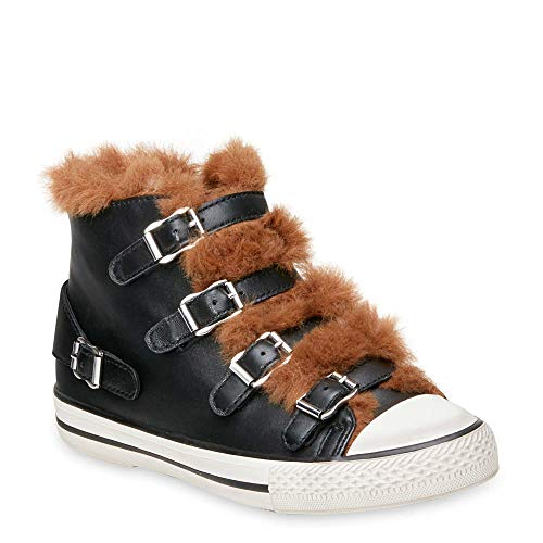 Cuero Negro Zapatos Mujer Valko Zapatillas De 39 Ash zwI0Bqxz