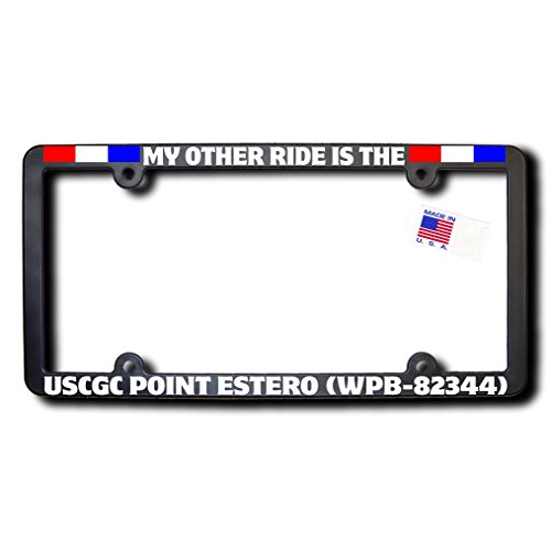 My Other Ride USCGC POINT ESTERO (WPB-82344) License Frame w/REFLECTIVE TEXT & - Point Estero