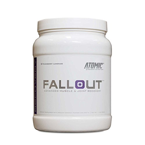 Fallout Advanced Muscle & Joint Recovery Powder, BCAA's Aminos + Joint Repair & Hydration by Atomic Strength Nutrition, Delicious Strawberry Lemonade Flavor, 1.1 Pound