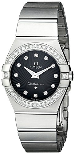 Omega Women's 123.15.27.60.51.001 Constellation Black Guilloche Dial (Black Guilloche Dial)