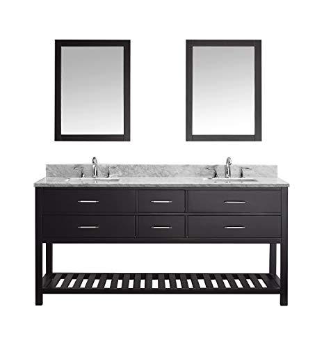 Virtu USA Caroline Estate 72 inch Double Sink Bathroom Vanity Set in -