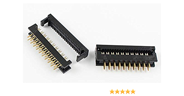 "Pack of 5 2x5 Pins 10-Pin 2.54mm 0.1/"" Female Header Right Angle Polarizing Key"
