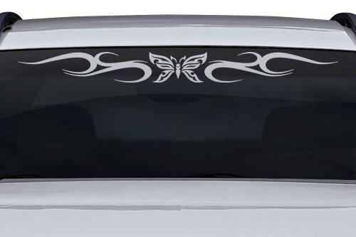 esign #134-01 Butterfly Tribal Swirl Swoosh Windshield Decal Sticker Vinyl Graphic Back Rear Window Banner Tailgate Car Truck SUV Van Trailer Wall | 36