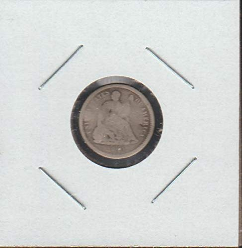 1860 O Liberty Seated (1837-1873) Half Dime About Good