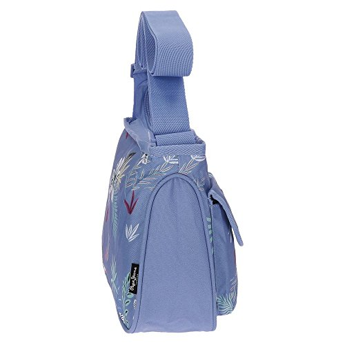 Pepe Jeans Mireia Borsa Messenger, 30 cm, 5.4 liters, Blu (Azul)