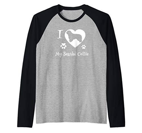 Bearded Collie Shirt for Bearded Collie Dog Lovers Raglan Baseball Tee