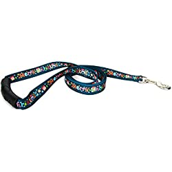 "Yellow Dog Design Merry Christmas EZ-Grip Dog Leash, Small/Medium-3/4 Wide 5' (60"") Long"