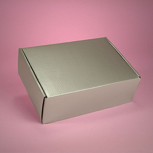 Decorative Corrugated Box - Colored Silver Corrugated Tuck Top Boxes 8
