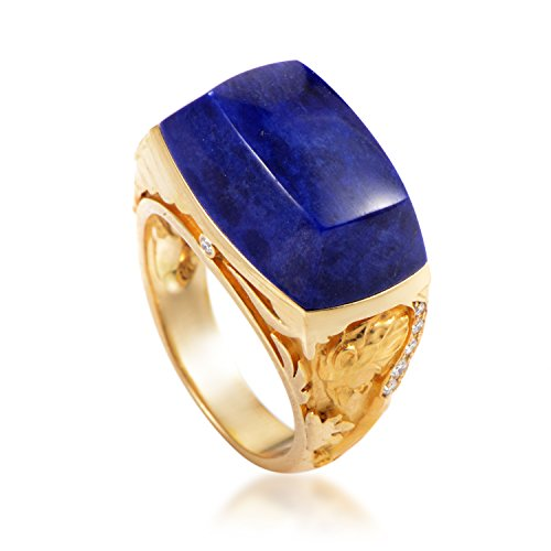 Magerit Babylon Women's 18K Yellow Gold Diamond & Lapis Lazuli Cocktail Ring