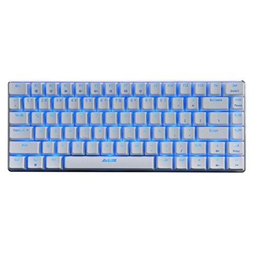 Ajazz AK 33 AK-33 Mechanical Gaming illuminated Keyboard 82 keys Blue Light Version【Blue Switch】 ()