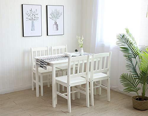 Essgruppe Mit 1 Tisch 4 Stühle Holz Tischgruppe