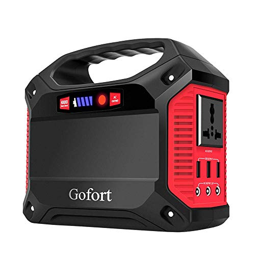 GOFORT Portable Generator Power Station 42000mAh 155Wh cpap Camping Battery Emergency Power Solar Generator with AC DC USB Ports Supply for Outdoor Home Fishing