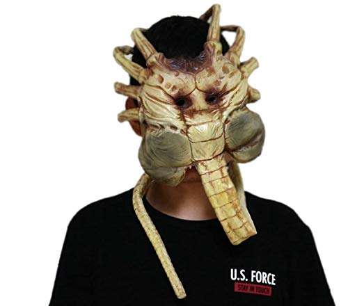 Hotcoser Alien:Covenant Facehugger Mask Cosplay Props Party for Adult Yellow ()