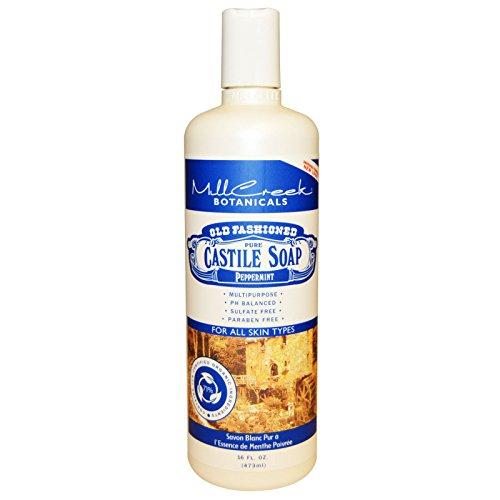 Old Mill Creek (Mill Creek, Old Fashioned Pure Castile Soap, Peppermint, 16 fl oz (473 ml) - 2pc)
