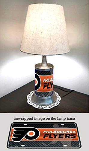 (JS Flyers Table Lamp with Shade, Your Favorite Team Plate Rolled in on The lamp Base, Philadelphia F)