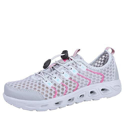 Las Gris Zapatos Aire Libre Antideslizante Malla Deportivos Cala al Zapatos Transpirables de Zapatos Casuales De Mujeres Malla w4aqXp