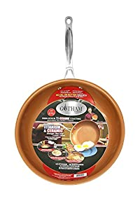 GOTHAM STEEL 11 inches Non-stick Titanium Frying Pan by Daniel Green (2 Pack)
