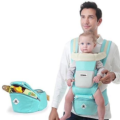 Hip Seat - Mochila de transporte para bebé, 13 en 1, de algodón suave
