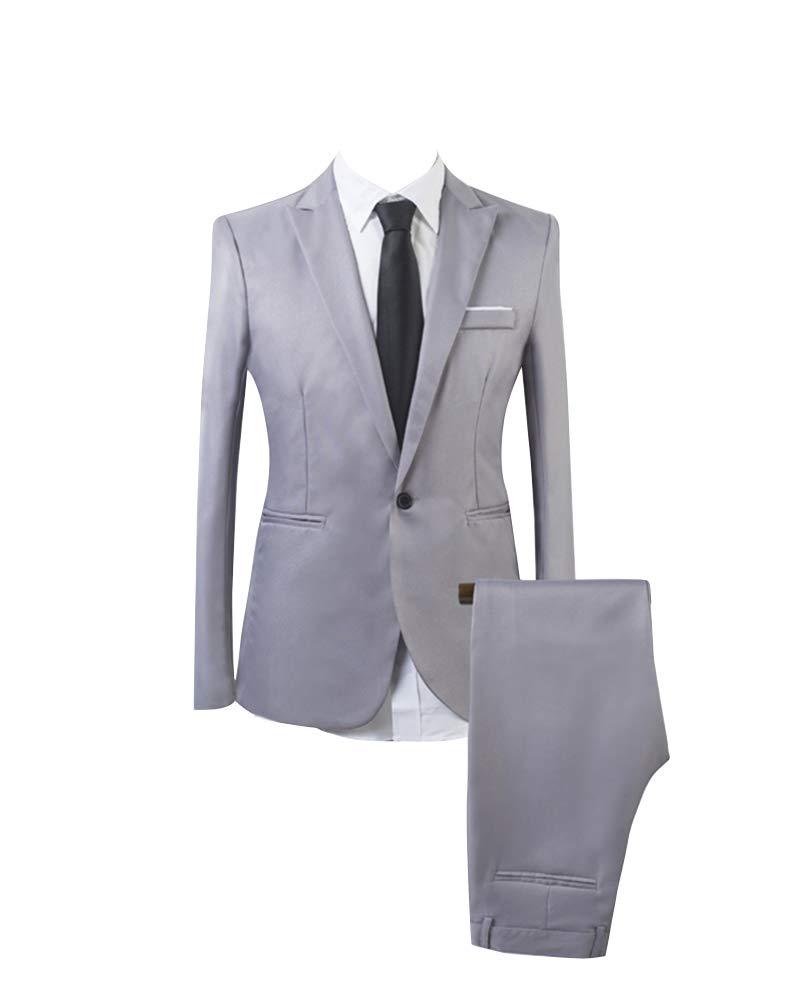 Uomo Colore Puro D'affari Standard 2 Pezzi Vestito Di Affari