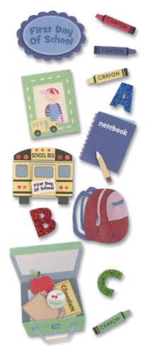 Jolees A Touch Of Jolees Dimensional Stickers, Baby/First Day Of School
