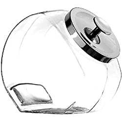 Anchor Hocking 1-Gallon Penny Candy Jars with Chrome Lid, Set of 4