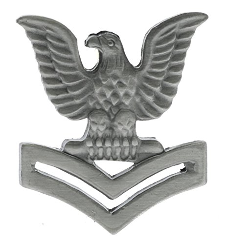 - US Navy 2nd Class Petty Officer Crow Left Pewter Hat or Lapel Pin JCH4458D146