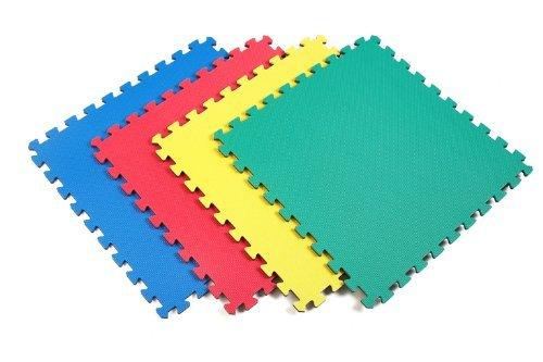Norsk 240151 Reversible Recyclamat Multi-Purpose Foam Flooring, Multi-Color/Gray, 4-Pack (Norsk Reversible Multi Purpose Flooring 8 Pack)