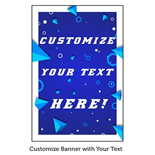 HALF PRICE BANNERS | Custom Business Vinyl Banner | Personalize with Your Text| Mesh Wind Resistant | 3'x2' Geometric | Free Ball Bungees & Zip Ties | Advertising Sign | Various Sizes | Made in USA