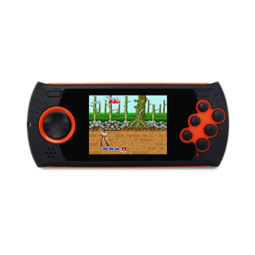 (Tacameng MD16 Simulator 3.0 inch Game Consoles 16BT Handheld PVP PXP Game Sega Games Portable Handheld HDMI/AV TV Output, Loaded with 100 Built-in Games (Red))